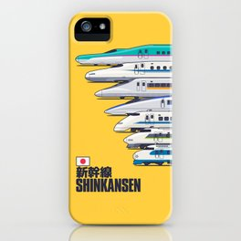 Shinkansen Bullet Train Evolution - Yellow iPhone Case