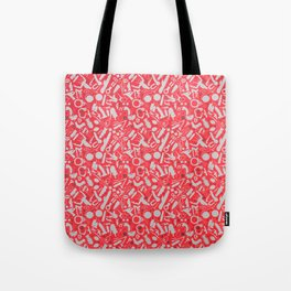 NSFW Red Kinky S&M Pattern Tote Bag