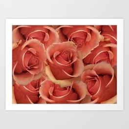 Persian Red Roses Art Print