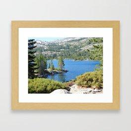 Inlet, lake, water, nature, road trip Framed Art Print