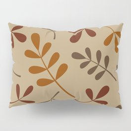 Fall Color Assorted Leaf Silhouettes Pillow Sham