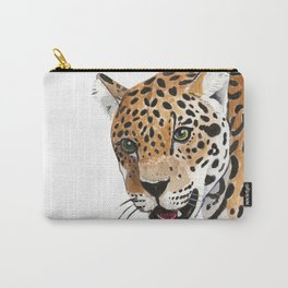 Leopard Bust Carry-All Pouch