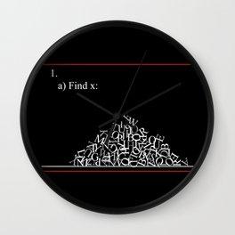 Math Problem Wall Clock