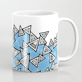 Triangles and Tessellation in Blue Coffee Mug