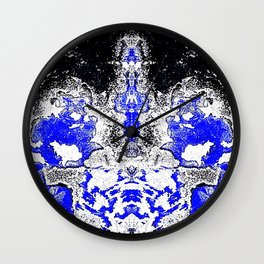 Blue Diamond Wall Clock