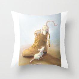 Lace moustache Throw Pillow
