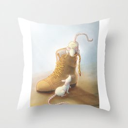 Lace moustache Throw Pillow