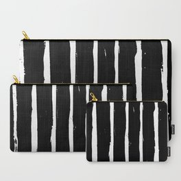 Minimal [3]: a simple, black and white pattern by Alyssa Hamilton Art Carry-All Pouch