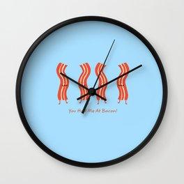 Romancing The Bacon Wall Clock