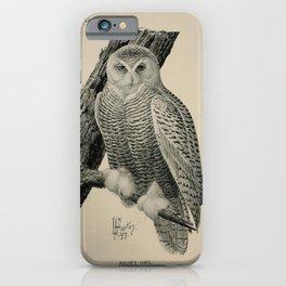 Vintage Print - Birdcraft: A Field Book of Birds (1897) - Snowy Owl iPhone Case