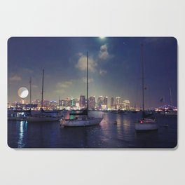 San Diego by Night - Oil Cutting Board