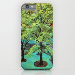 """Classical Masterpiece 'Spring, Washington Square, NYC"""" by John French Sloan iPhone Case"""