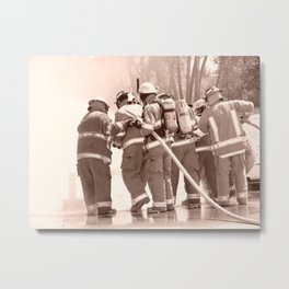 Training the Recruits Metal Print
