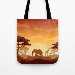 Abstract African Safari Tote Bag