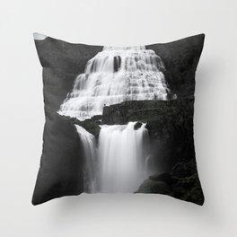 Dynjandi - Thunder of the Westfjords Throw Pillow