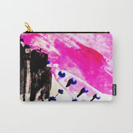 Funky abstract pink Carry-All Pouch