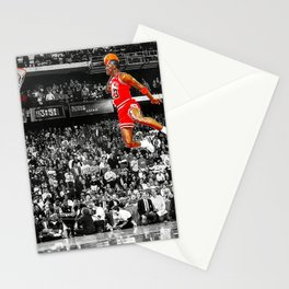 Infamous Jumpman Free Throw Line Dunk Poster Wall Art, Michael Jor-dan Poster Stationery Cards