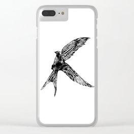 Textured bird Clear iPhone Case