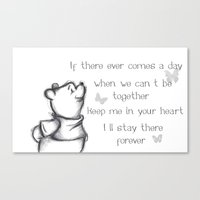pooh Canvas Prints featuring Insightful Pooh by Makayla Wilkerson