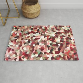 Red Mosaic Pattern Rug