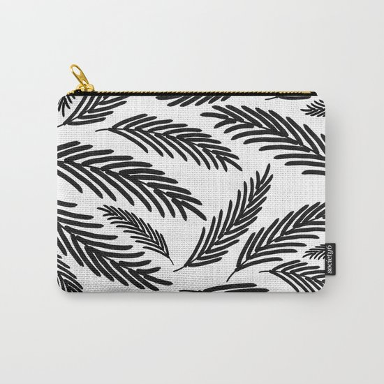 Palms Leaves on White Carry-All Pouch