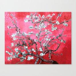 Van Gogh Almond Blossoms : Reddish Pink & Light Blue Canvas Print