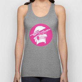 Liquify skull in hot pink Unisex Tank Top