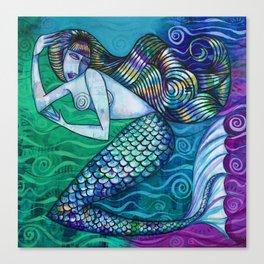 Teal Mermaid Canvas Print