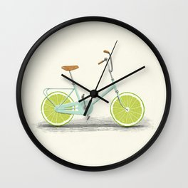 Acid (Blue) Wall Clock