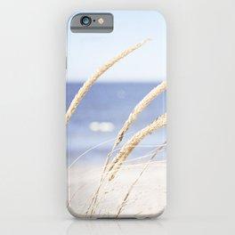 Beach Grass Blue Photography, Coastal Ocean Landscape, Sea Seashore Seascape Shore iPhone Case