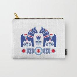 Blue Swedish Dalahäst Carry-All Pouch