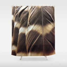 Barred Owl Feathers Shower Curtain