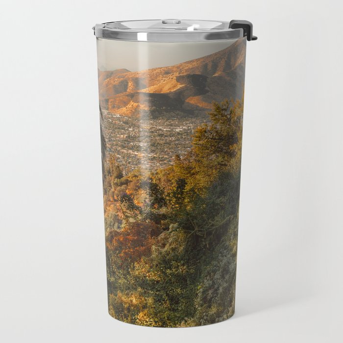 Santiago Chile from San Cristóbal Hill Travel Mug