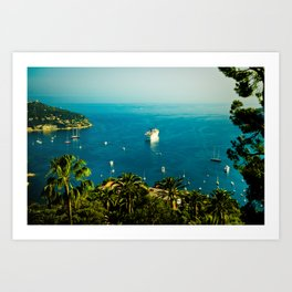 Côte d'Azur Art Print