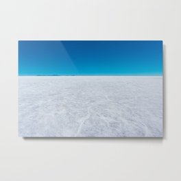 Wide Open Spaces, Salar de Uyuni Salt Flat, Bolivia Metal Print