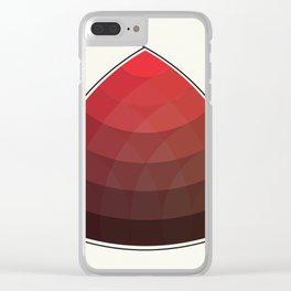 Le Rouge-Orangé (ses diverses nuances combinées avec le noir) Remake (Interpretation), no text Clear iPhone Case