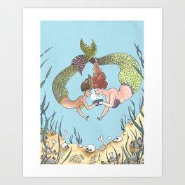 Mermaids at Tea Art Print