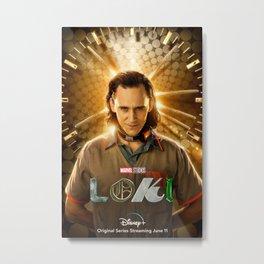 Loki 2021 New Marve-l TV series Tom Hiddleston first poster quality print Metal Print