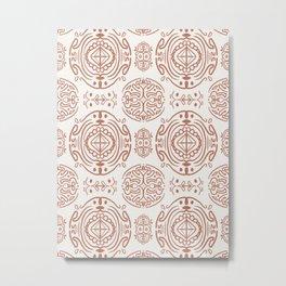 Nordic Clay #society6 #pattern Metal Print