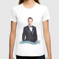 tom hiddleston T-shirts featuring Tom Hiddleston - Flower Crown by River