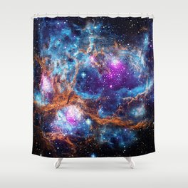 Lobster Nebula Shower Curtain