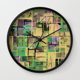 Pastel Thoughts - Abstract, textured, pastel painting Wall Clock