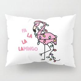 Christmas Flamingo Pillow Sham