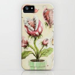 Piranha Plant Botanical Illustration iPhone Case