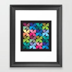 colorful semicircle pattern Framed Art Print