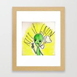 Keep it Green Framed Art Print