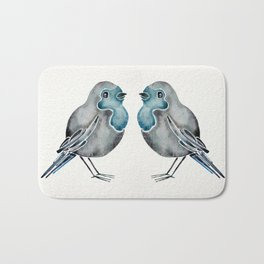 Little Blue Birds Bath Mat