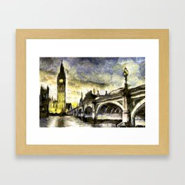 Westminster Van gogh Framed Art Print