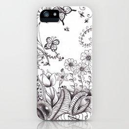 Garden Doodle 2 iPhone Case