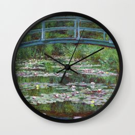 High Resolution Monet - The Japanese Footbridge Wall Clock